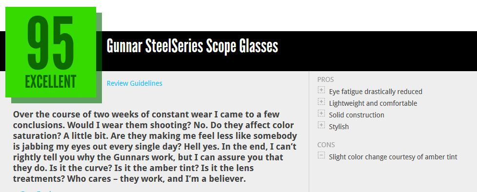 Eyes on with the Gunnar SteelSeries Scope gaming glasses