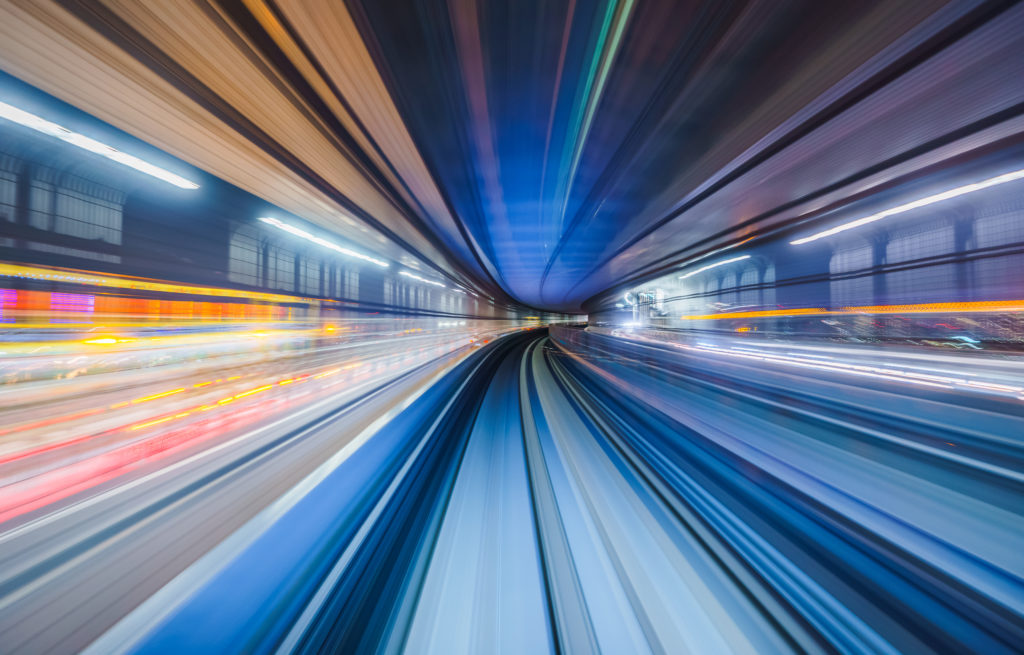motion blur of train moving inside tunnel in EYFZX6A 1024x655 - Your Devices Might Cause Nearsightedness