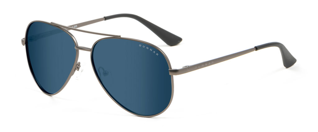 maverick aviator shaped blue light sunglasses