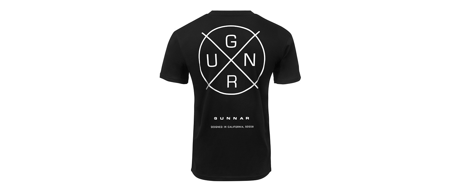 GUNNAR Shirt crosshair back - Crosshair T-Shirt