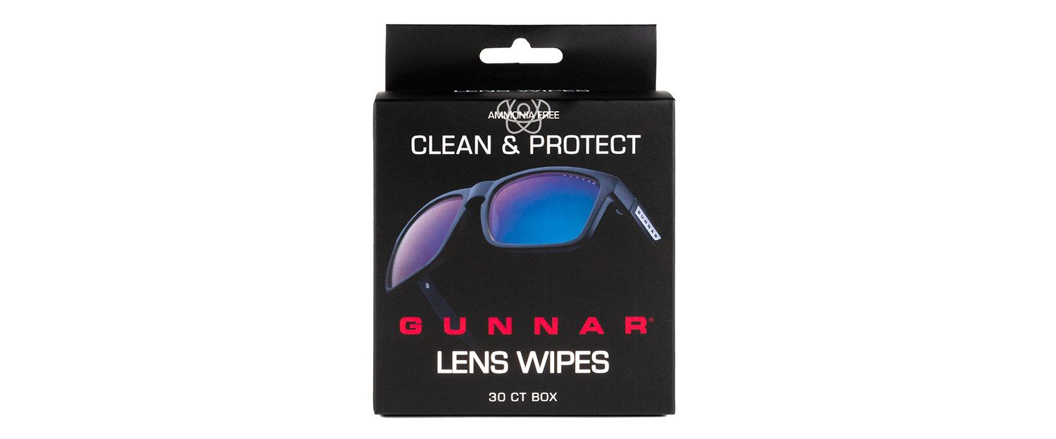 GUNNAR wipes box front - GUNNAR Lens Wipes