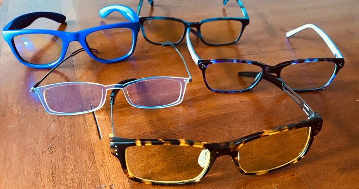 best brands for blue light glasses represented in one image