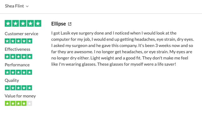ellipse computer glasses review