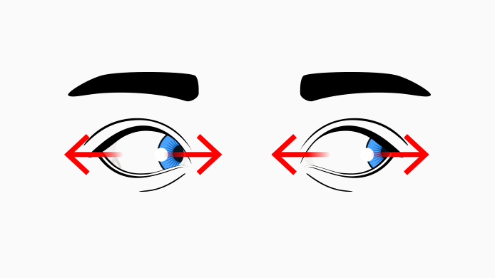 eye exercises look side to side