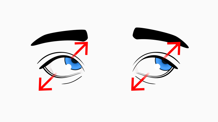 eye exercises eyes looking diagonally