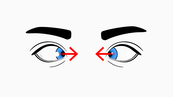crossed eyes for eye exercises