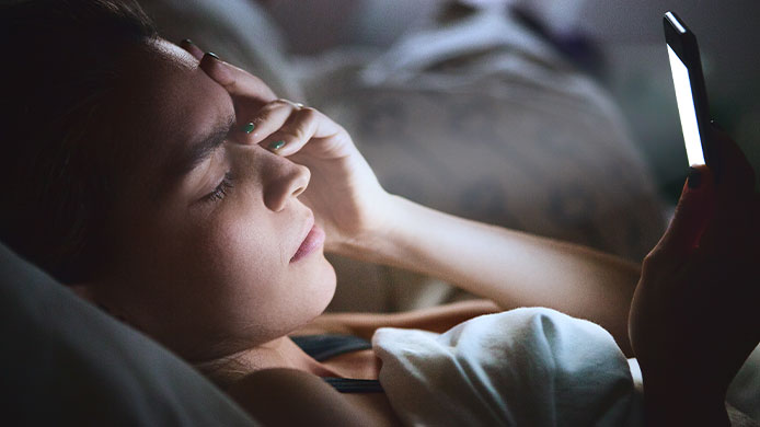 the blue light from your phone is enough to trigger a migraine