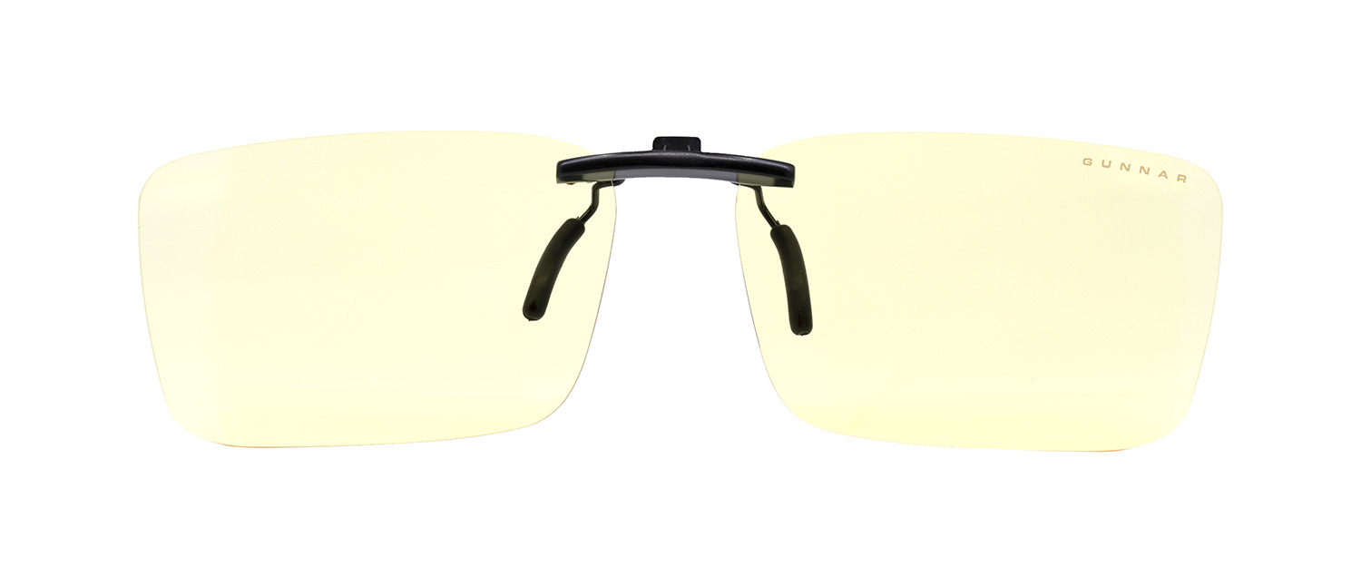rimless blue light clip on glasses by gunnar