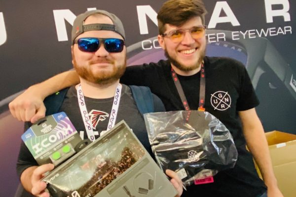 two happy young men at PAX East 2020