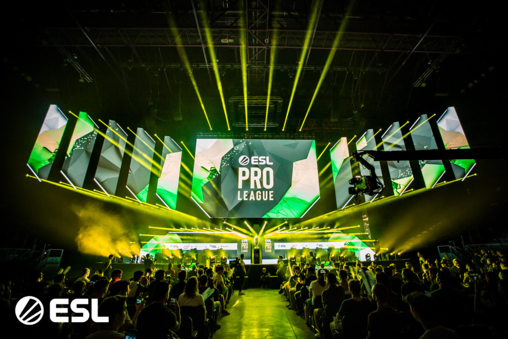 crowded arena watching ESL Pro League professional gaming event