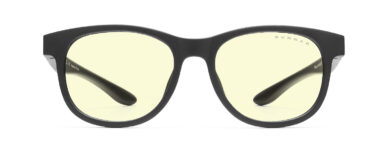 rush small computer glasses for kids in onyx frame and amber lens