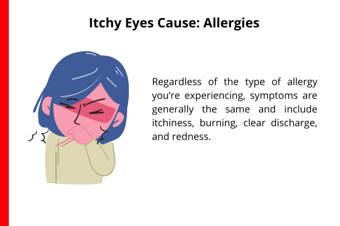 allergies as a common cause of itchy eyes