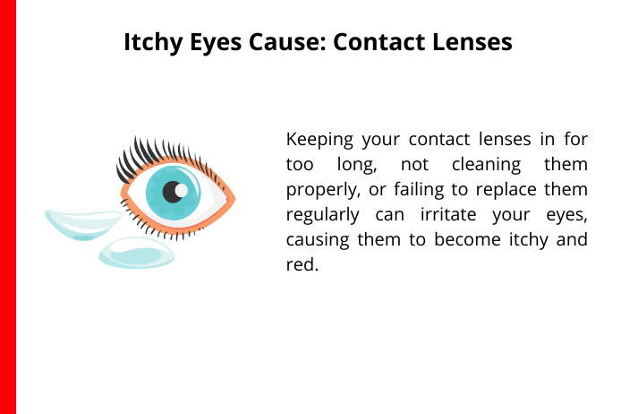 contact lenses as a common cause for itchy eyes