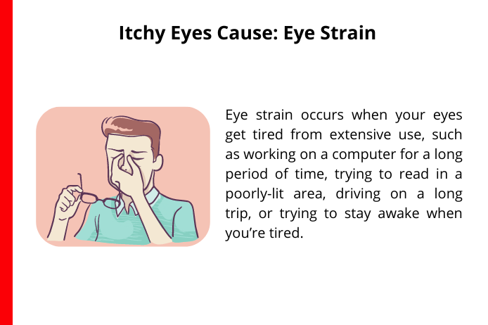 eye strain as a cause for itchy eyes