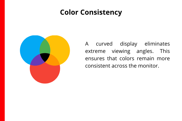 curved computer monitor offers color consistency
